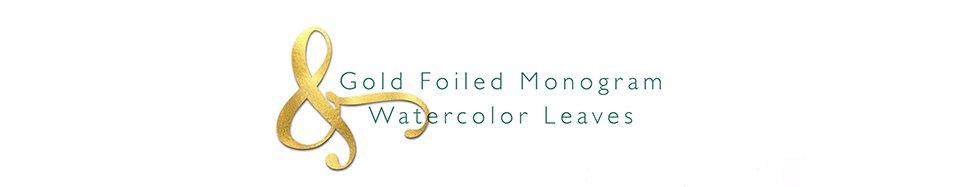 scripted title Gold Foiled Monogram