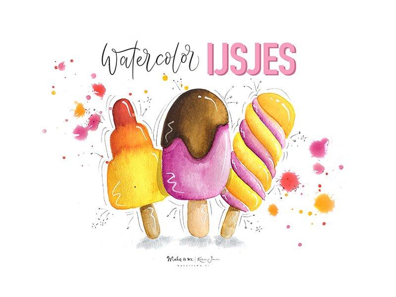 watercolor ijsjes featured image